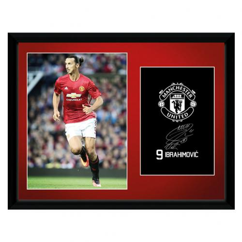 Manchester United F.C.  Picture Ibrahimovic 16 x 12