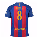 2016-17 Barcelona Sponsored Home Shirt (Iniesta 8)
