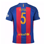 2016-17 Barcelona Sponsored Home Shirt (Puyol 5)