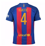 2016-17 Barcelona Sponsored Home Shirt (Rakitic 4) - Kids