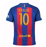 2016-17 Barcelona Sponsored Home Shirt (Rivaldo 10)