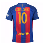 2016-17 Barcelona Sponsored Home Shirt (Ronaldinho 10)