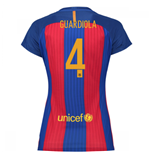 2016-17 Barcelona with Sponsor Womens Home Shirt (Guardiola 4)