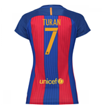 2016-17 Barcelona with Sponsor Womens Home Shirt (Turan 7)