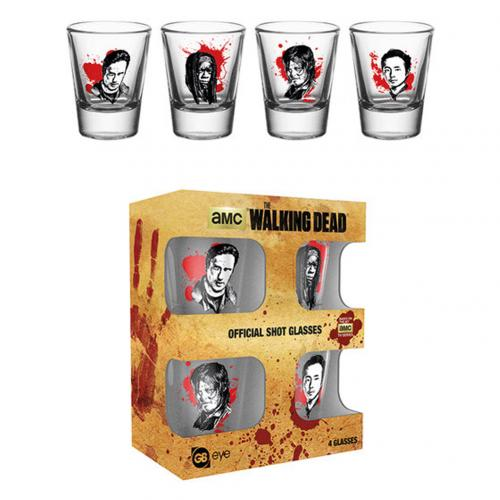 The Walking Dead 4pk Shot Glass Set CH