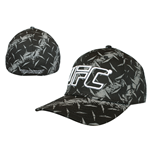 UFC - Black. Printed Flex Cap