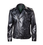 Zelda - PU biker Jacket with embossed Logo