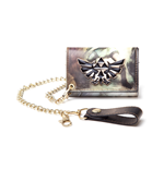 Zelda - Trifold Chain Wallet with enameled Metal Logo