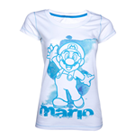 Nintendo - White. Blue Mario Female T-shirt