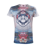 Nintendo - T-shirt men tropical Mario