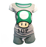 Nintendo - Shortama, Mushroom, 1 Up, Female