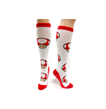 Nintendo - Red Mushroom Pattern Knee High