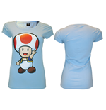 Nintendo - Light Blue. Toad T-Shirt
