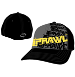 Sprawl - Black Flex Cap w/ Yellow Logo