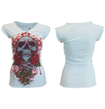 Miami Ink - White Skull T-Shirt