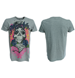 Miami Ink - Grey. T-Shirt Rose