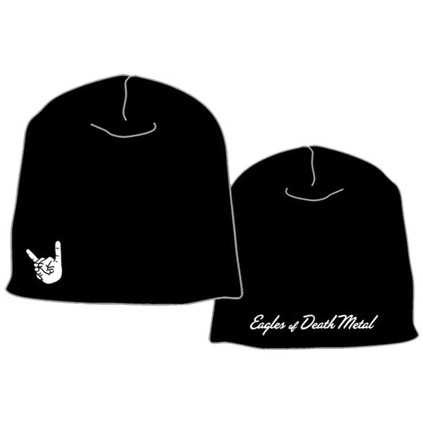 EOD - Black with white logo print.front&back