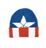Captain America - Beanie with knitted pattern