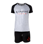 Assassins Creed - Core Logo Black and White Male Shortama