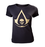 Assassin's Creed IV - Female T-shirt Golden Logo