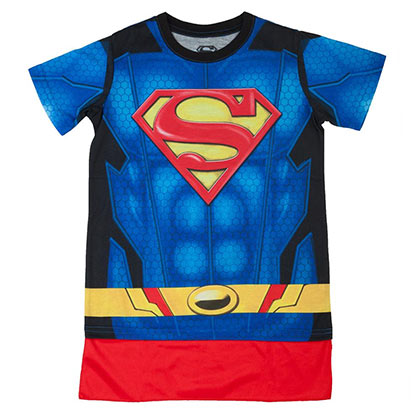 SUPERMAN Sublimated Youth Costume Tee Shirt