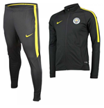2016-2017 Man City Nike Knit Tracksuit (Anthracite) - Kids