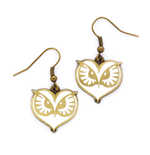 Fantastic Beasts Owl Face Earrings (antique brass plated)