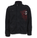 Death Blood - Military Lined Jacket with Hidden Hood