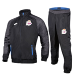 2016-2017 Deportivo La Coruna Lotto Official Tracksuit (Black)