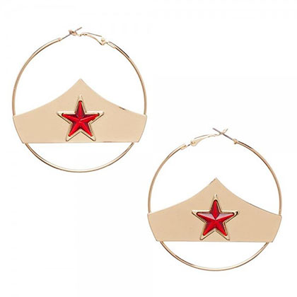 WONDER WOMAN Star Hoop Earrings