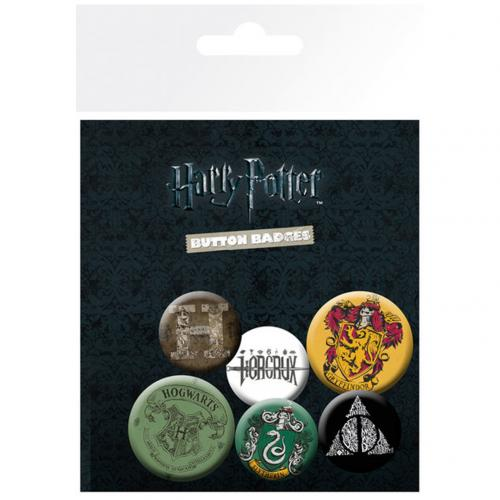 Harry Potter Button Badge Set BLK