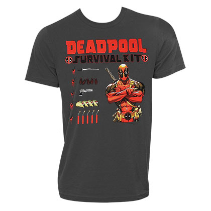 DEADPOOL Survival Kit Charcoal Tee Shirt