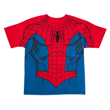 SPIDERMAN Boys Costume Tee Shirt
