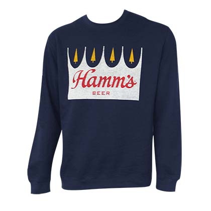 HAMM'S Crown Logo Navy Blue Crewneck Sweatshirt