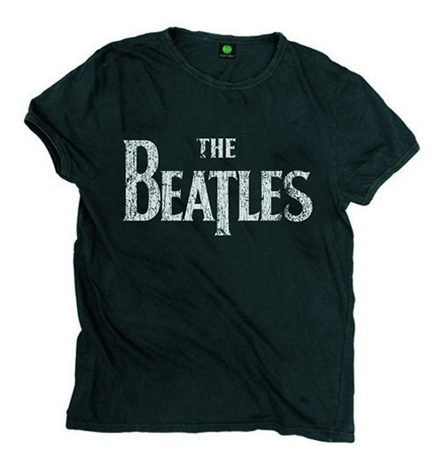 The Beatles Men's Premium Tee: Vintage Drop T Logo