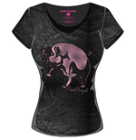 Pink Floyd Ladies Fashion Tee: Animals Pig