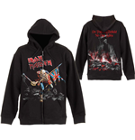 Iron Maiden Men's Hooded Top: Scuffed Trooper