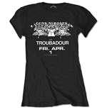 Guns N' Roses Ladies Tee: Troubadour Flyer