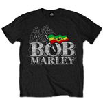 Bob Marley Men's Tee: Distressed Logo