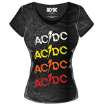 AC/DC Ladies Fashion Tee: Powerage Repeat