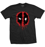 Marvel Comics Men's Tee: Deadpool Splat Icon