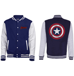 Marvel Comics Men's Varsity Jacket: Avengers Assemble - Distressed Shield