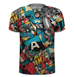 Marvel Comics Premium Tee: Captain America Comic Strip