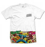 Marvel Comics Premium Tee: Captain America Comic Strip Pocket