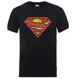 DC Comics Men's Tee: Originals Superman Shield Crackle Logo