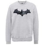 DC Comics Men's Sweatshirt: Batman Arkham Origins Shield