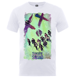 DC Comics Men's Tee: Suicide Squad Movie Poster