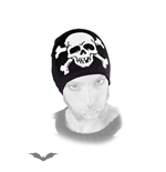 Black beanie with one big white skull