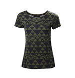 Zelda - Green Black Hyrule Womens T-Shirt
