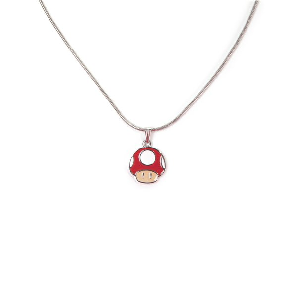 Nintendo - Mushroom Super Mario Metal Necklace With Charm